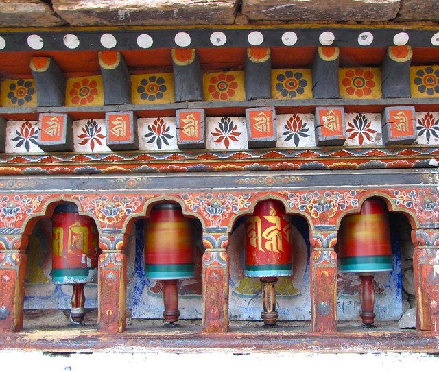 Kychu prayer wheels