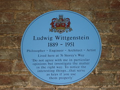 Photo of Ludwig Wittgenstein blue plaque
