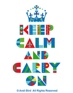 Keep Calm Carry On t shirt graphic