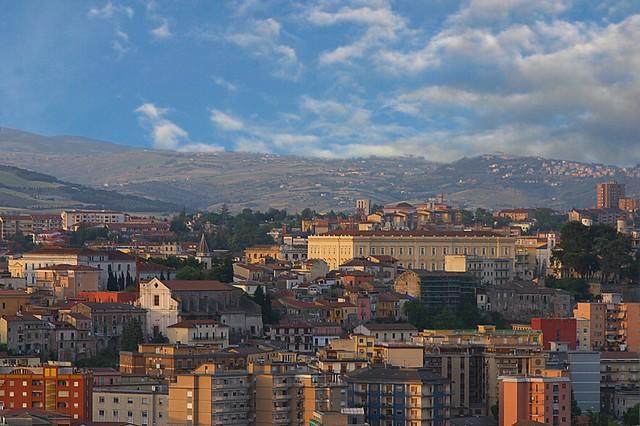 panorama del centro storico di Benevento città