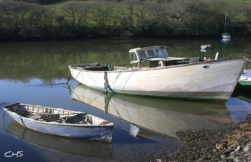 Old timer still floating. Cowlands Creek - Coombe (River Fal) by Stocker Images
