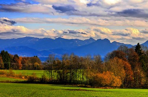 autumn mountain germany bavaria upperbavaria irschenberg mywinners