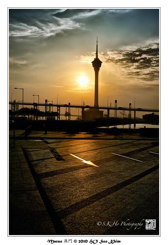travel light sunset tower macau macao 澳門 澳门 macautower macautowerconventionentertainmentcentre 攝影發燒友 澳門旅游塔会展娱乐中心