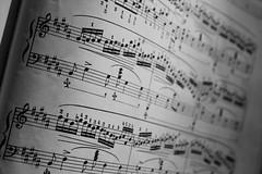 sheet music, music, line, font, monochrome photography, monochrome, black-and-white,