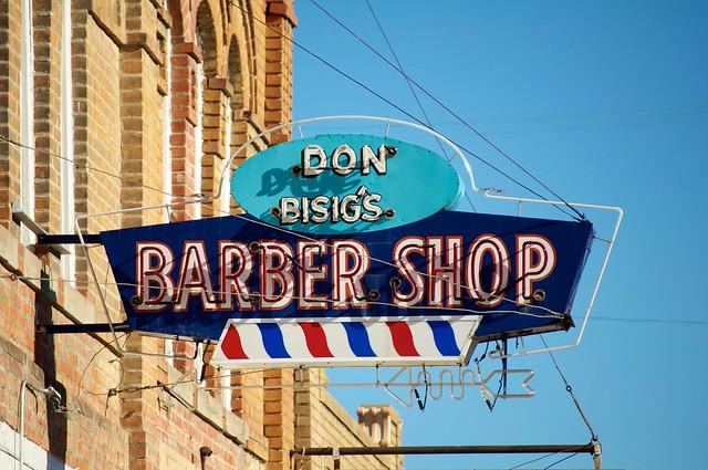 Vintage Barber Shop Sign St Joseph Mo Flickr Photo