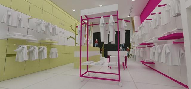 Diseño de Muebles para tienda de ropa de BEBE