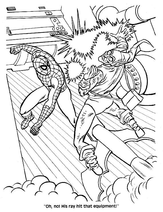 mysterio spiderman coloring pages - photo#28