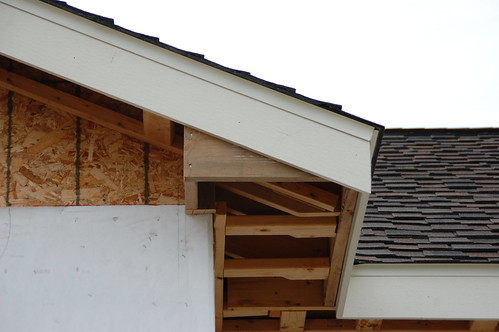 Building soffit boxes and wood soffit installation for Box gable roof