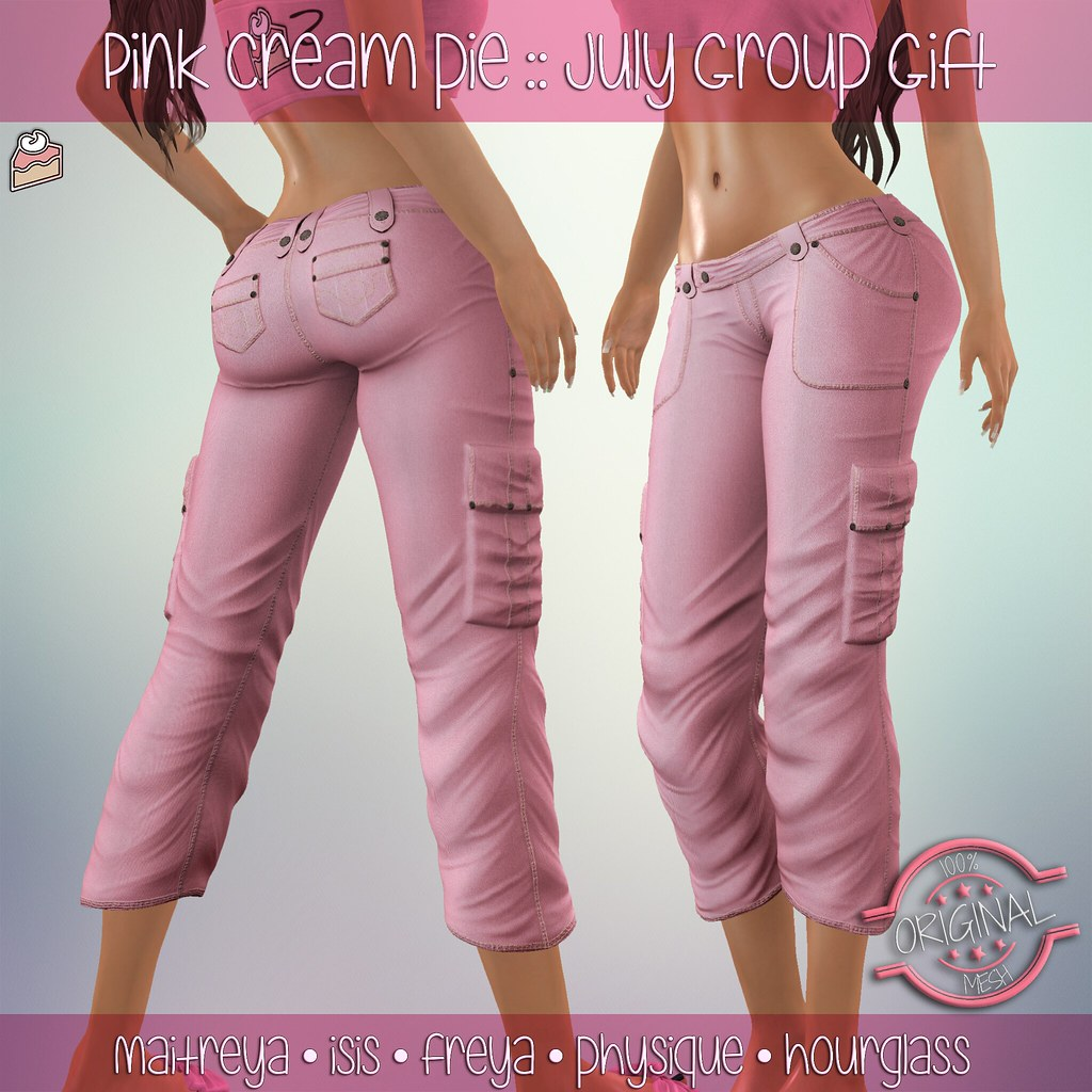 July Group Gift :: Pink Cream Pie - SecondLifeHub.com