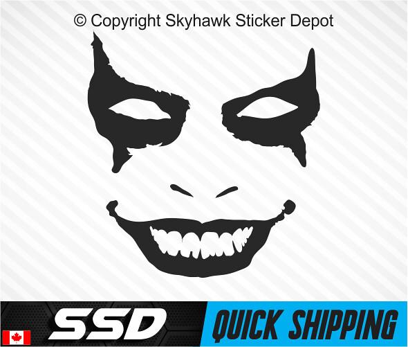 Evil Clown Decal Protected Scary Clownie Car Truck SUV Jeep Vinyl Window Sticker