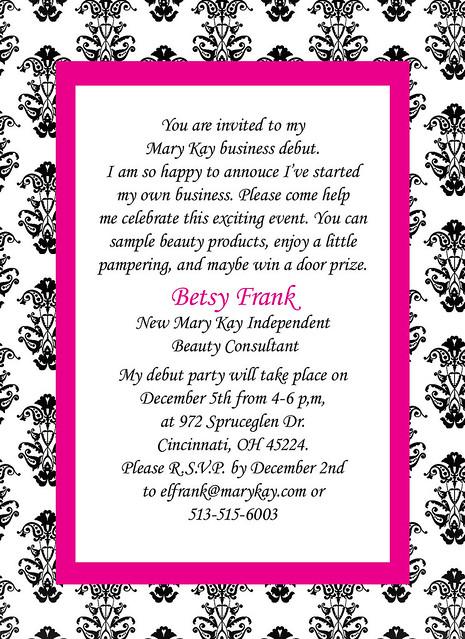 Mary Kay Party Invitations