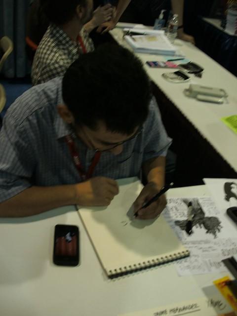 Xaime Hernandez Sketching