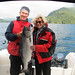 Guide Tommy Thompson and me and my salmon (18.5 pounds) caught near Sonora Resort, BC
