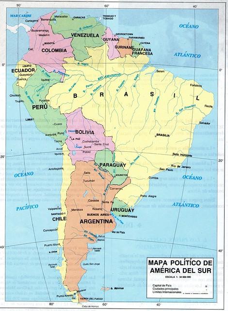 Mapa Pol tico de Am rica del Sur Flickr Photo Sharing