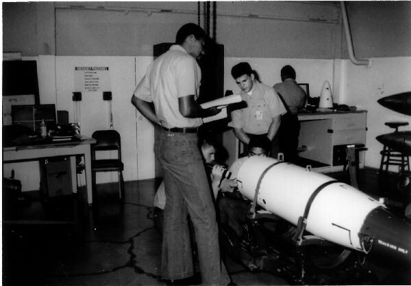 Ordnancemen training on B57 weapon