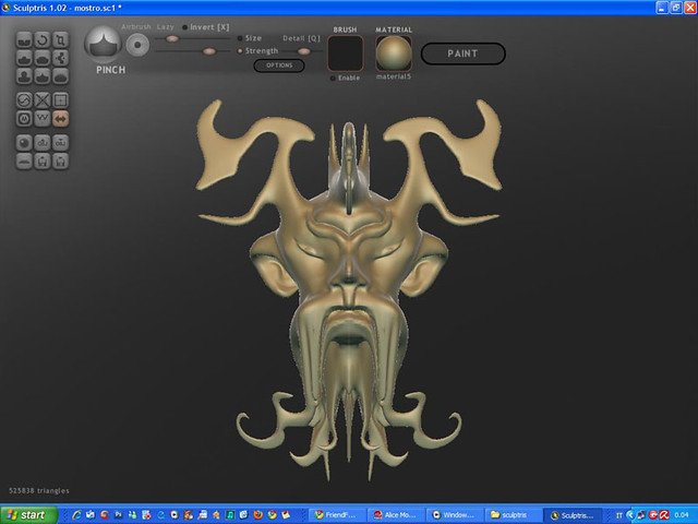 "Test Sculptris ""mostro"""