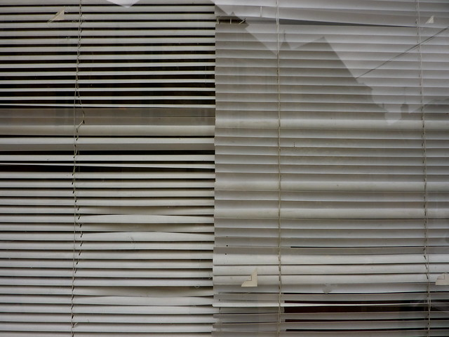 Old window blinds flickr photo sharing for Old world window treatments