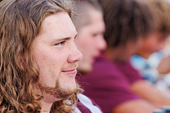 University of Montana Grizzly Football Player at an Autograph Session