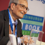 Amartya Sen | The great nobel prize-winner signs books at the Book Festival following a sold-out event