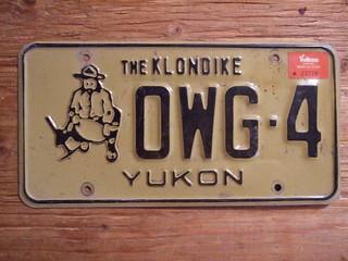 YUKON 1987 (EXPIRES MAR-31-88) ---PASSENGER PLATE  OWG-4