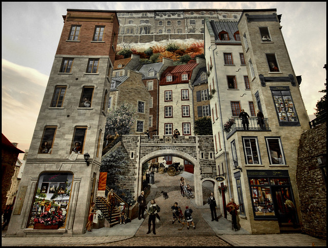 Quebec city mural flickr photo sharing for Mural quebec city