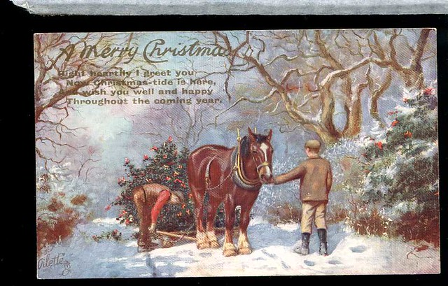 Christmas Winter Scenes with Horses