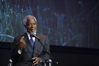 Annan, Kofi At AGRF in 2010