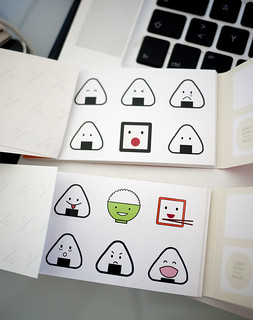 Onigiri and obento stickers from Moo