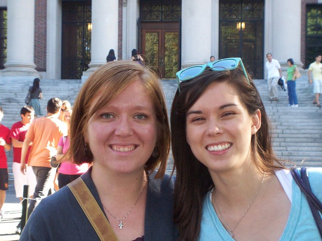 megan and anna at harvard