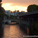 Sunset Over the Water in Berlin, Germany