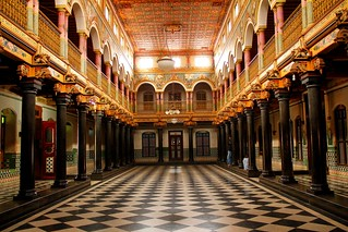 Chettinad Palace Inner Hall - Complete View