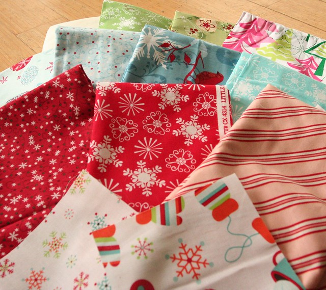 Some of my fabric for the SavVy Season Swap