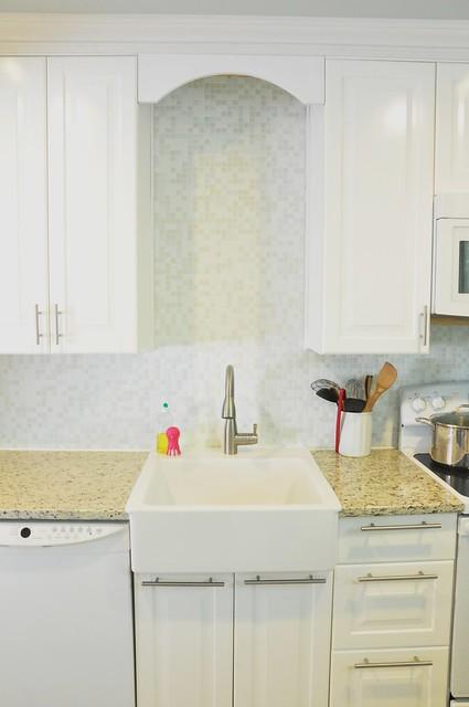 white mosaic tile backsplash flickr photo sharing