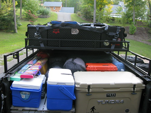 All Those Boxes Contain Everything Food Fishing Gear Hiking And Supplies For The Truck We Packed A Lot Because Did On Our Trips