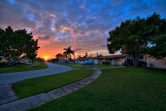 Sunset Over Palm Beach Gardens Flickr Photo Sharing