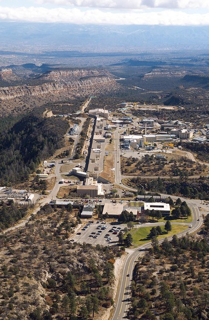 Aerial view of LANL's TA-15.  Photo by Mike O'Keefe.