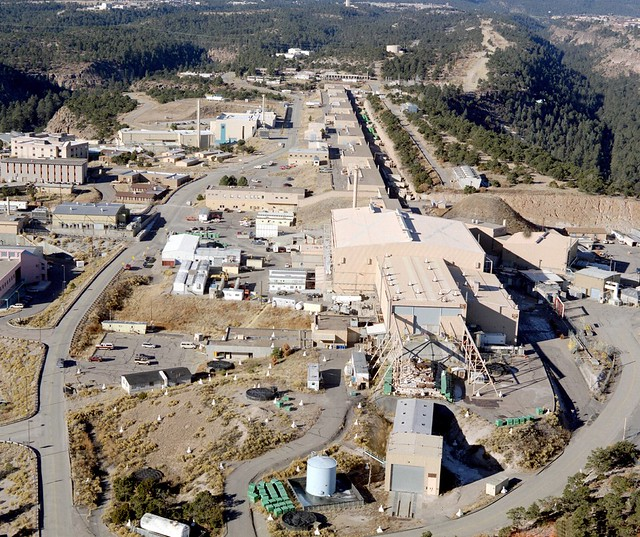 1994 aerial view of  the Los Alamos Neutron Science Center(LANSCE).   Photo by Richard Robinson.