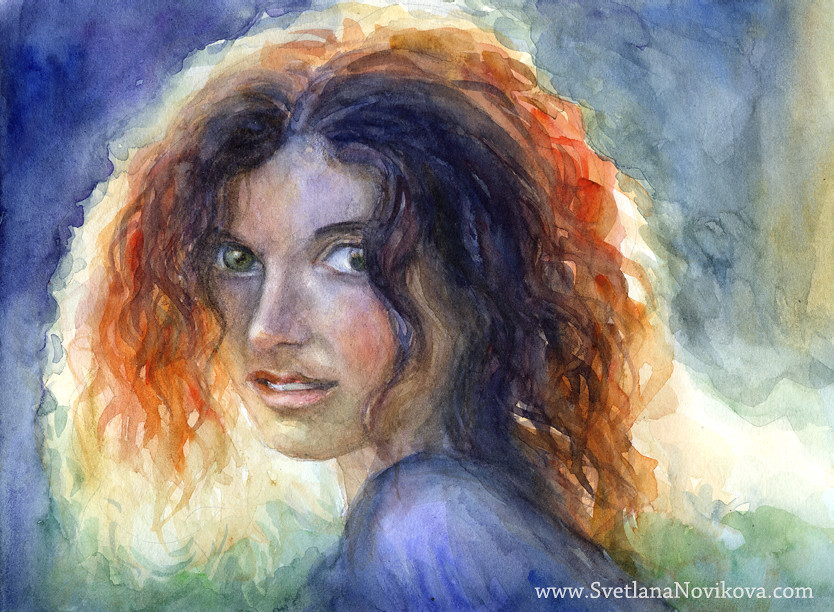 Realistic Watercolor Portraits Watercolor Portrait of a Young