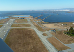 reservoir, aerial photography, coast, infrastructure, runway,