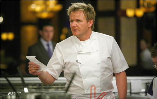 Ramsay, con un ticket de cocina