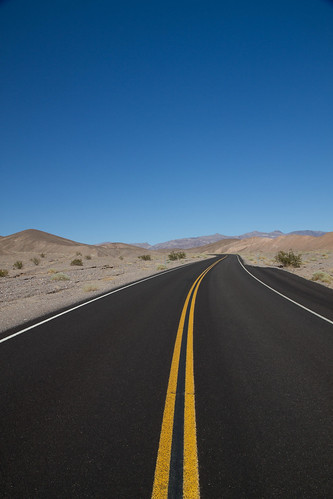 empty highway through Death Valley