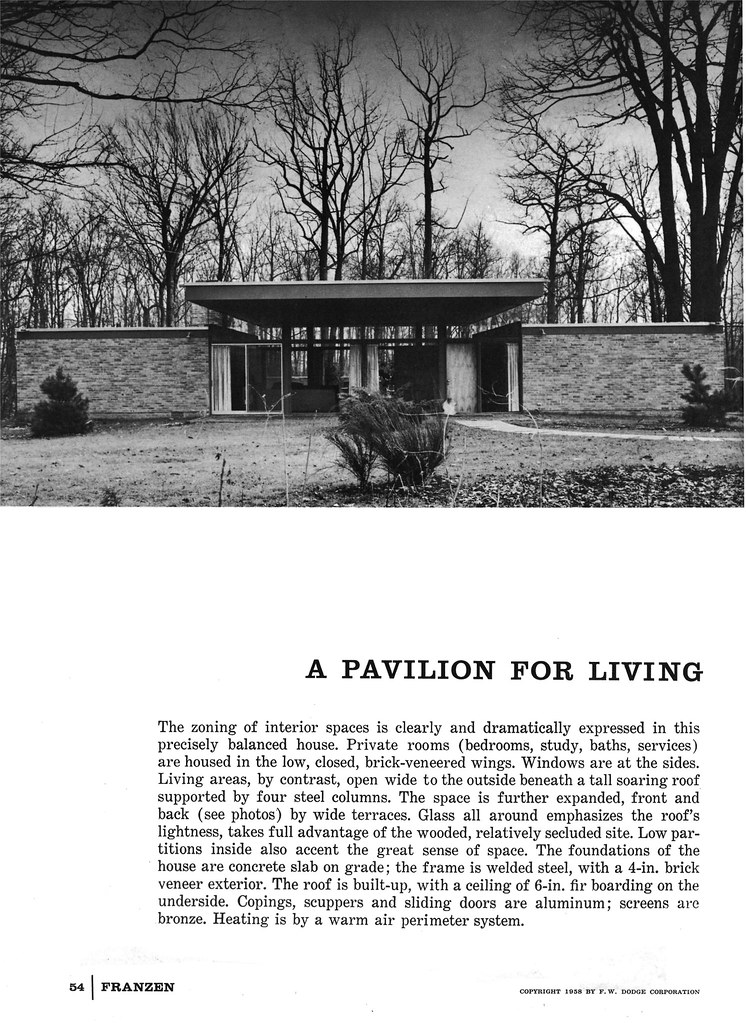 Beattie Residence - Rye, New York - 1958 (Page 1 of 6)