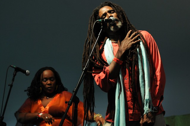 Grammy-nominated Boukman Eksperyans from Port-au-Prince rocked the Chile Pepper Fiesta. Photo by Michael Ratliff.