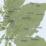 Royal Scotsman luxury train - map of the Great North Western Journey