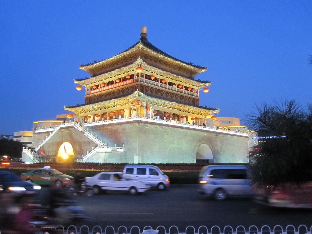 Drum Tower at Night