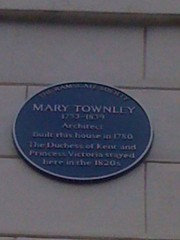 Photo of Mary Townley, Victoria, and Victoria blue plaque