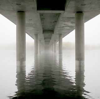 Bridge and fog