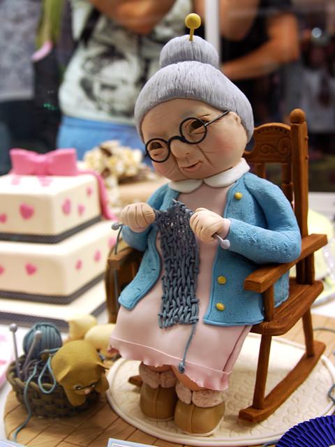 Knitting Cake Toppers : Knitting granny cake flickr photo sharing