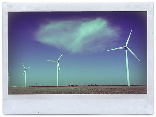 Wind Farm Snyder Texas TX Engergy Windmills Cotton Field Cloud Sky Green Industry Commercial Photographer IMG_3284