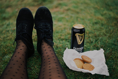 Guiness and cookies.